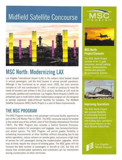 LAX Modernization Flyer Cover